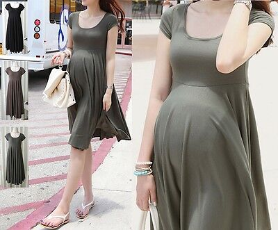 Dresses Dress Maternity Wear Plain Colour Mwd006 Spirited Dress Maternity Comfortable Clothing, Shoes & Accessories