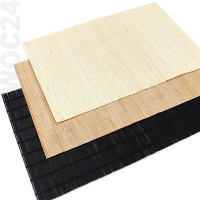 4 Tischset Platzmatte Platzdeckchen Platzset abwaschbar Kunststoff BAMBUS