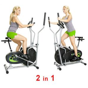 stationary exercise bike elliptical fitness machine