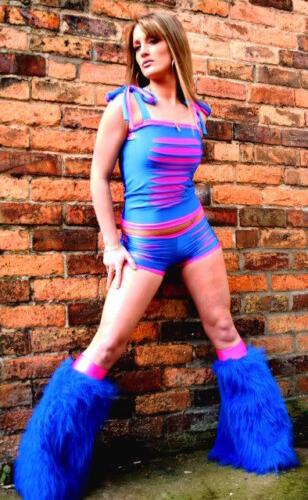 Funki-B bling slashed cyber shorts boobtube vest fluffies lots of colours dance