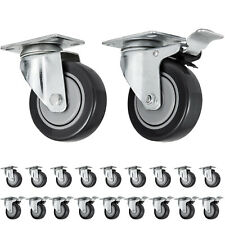 20 Pcs Plate Casters 4 Wheels All Swivel And 10 Brake Caster Nation Cheap Local