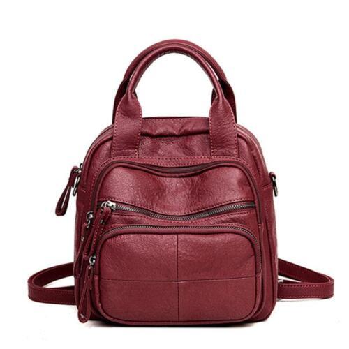 Women PU Soft Multifunction Bags Leisure Handbags Large Capacity Backpack New