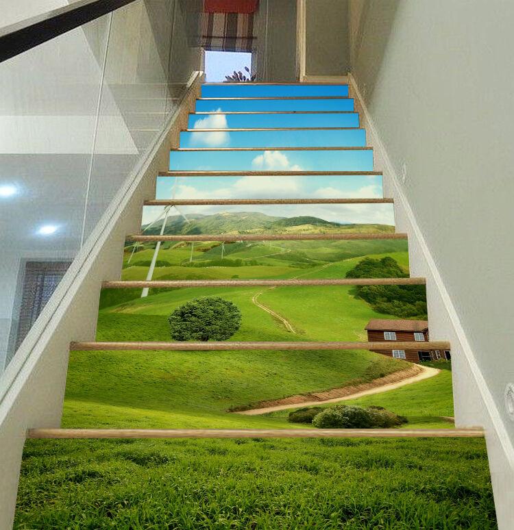3D Ebene 366 Stair Risers Dekoration Fototapete Vinyl Aufkleber Tapete DE