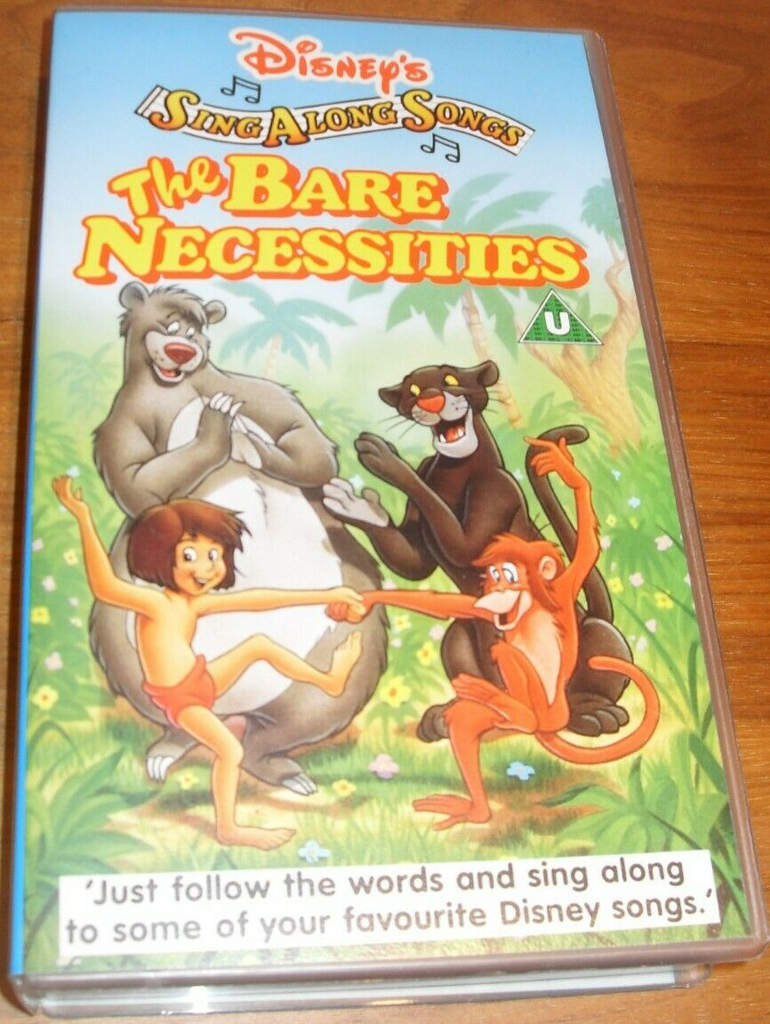 6b3ca38bc Disney Sing Along Songs The Bare Necessities Jungle Book VHS Video for sale