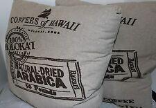 Coffee of Hawaii Pillow Fun & Funky Coffee Bean Theme Pillows 20x20 NEW