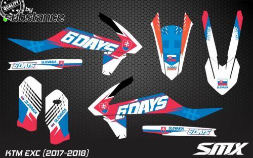 2017 KTM EXC 350 SMX graphics ENDURO graphic kit Slovakia 6 days EXC300 XCW 450