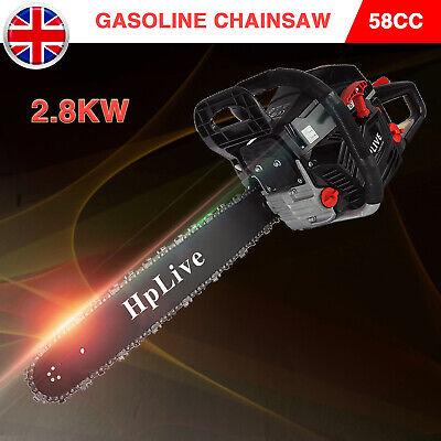 2.8KW 20 Heavy Duty 52cc Petrol Chainsaw Chain Saw Tree Cutter Kit Garden Tools