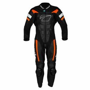 Spada-Curve-Evo-1-One-Piece-Leather-Motorcycle-Racing-Suit-Black-Fire-Red-orange