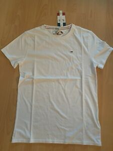TOP T-Shirt TOMMY HILFIGER Gr. XS, weiß Original NEU mit Etikett TOMMY JEANS
