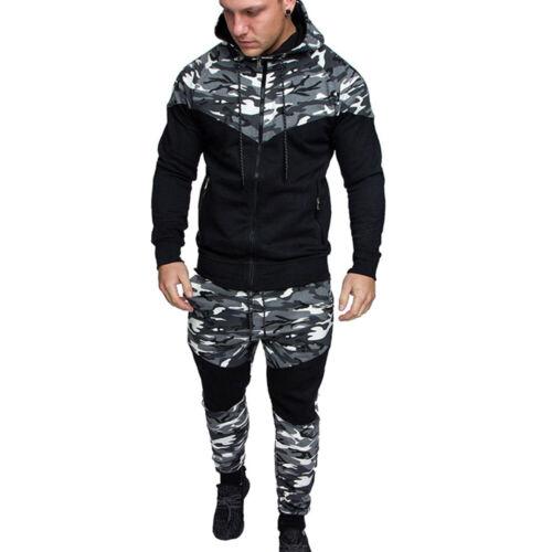 Mens Hoodies Sweatshirt Pants Sets Gym Joggers Lounge Wear Tracksuit Outfits UK