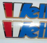 2 Wellcraft Chrome Outline Red White & Blue Custom Marine Vinyl Set