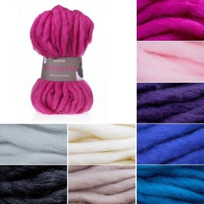 606 Dove Yarn 150g Sirdar Gorgeous Ultra Super Chunky Knitting Wool