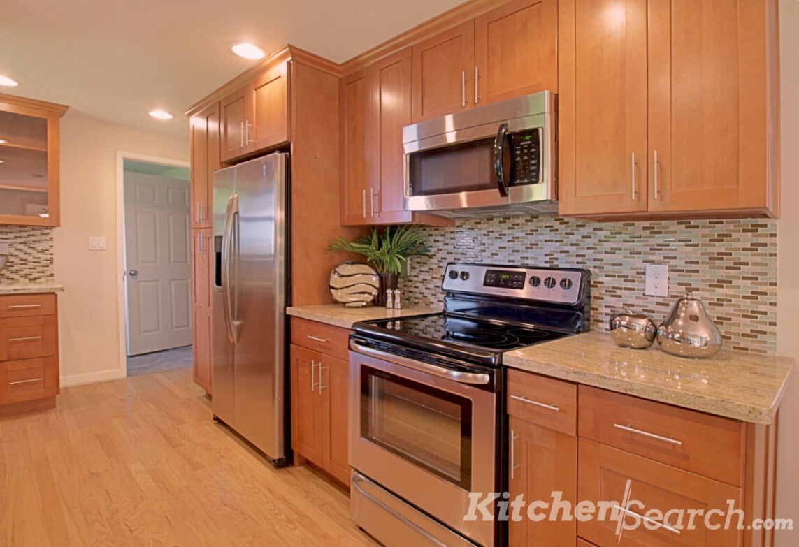 Details About All Wood Kitchen Cabinets 10x10 Rta Toffee Shaker