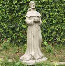 Attractive H Saint Francis Garden Statue. Old Stone Yard Sculpture Lawn Patio Decor  Outdoor