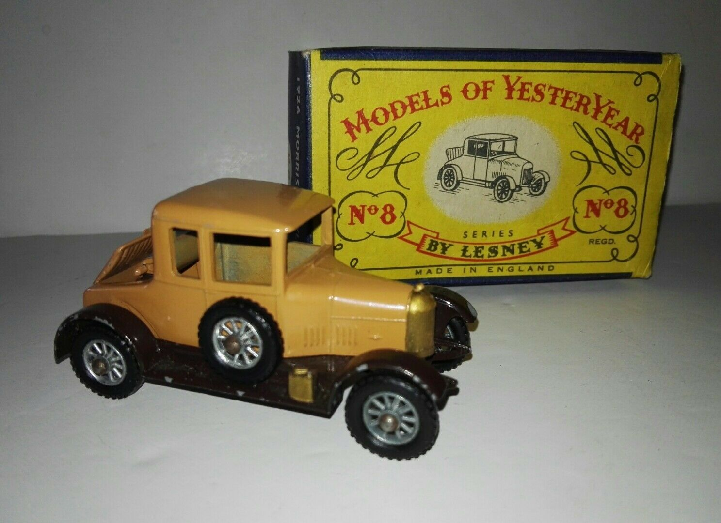 Matchbox Yesteryear Y8 1926 Morris Cowley (Bullnose) with original box 1958