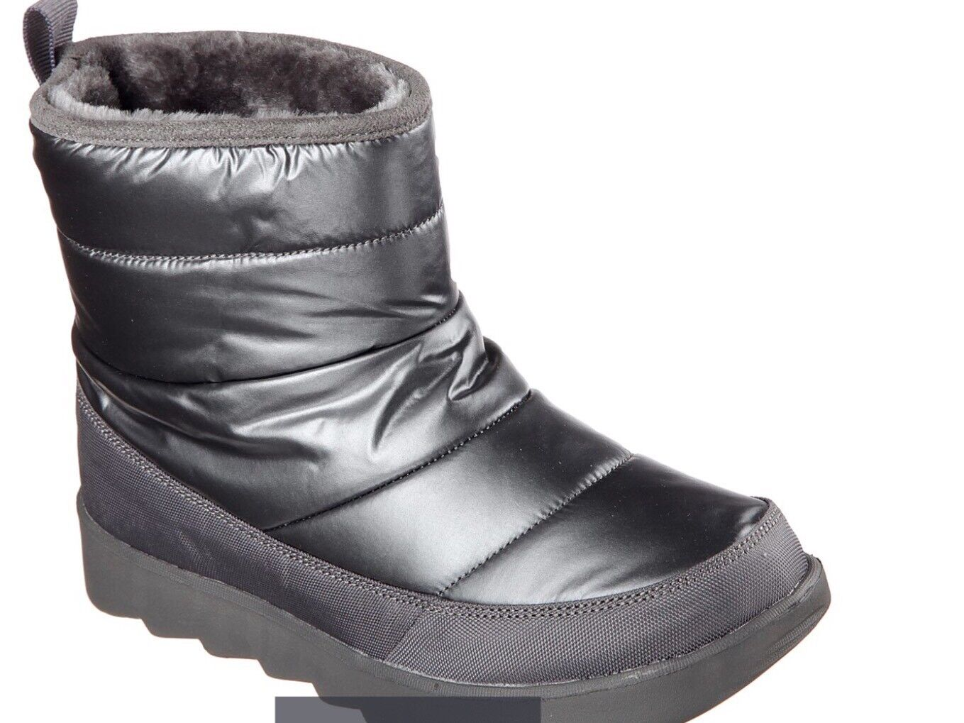 Skechers Mementos Angel Face Winter Boots SZ. 6 Bobs For Dogs Charcoal NEW