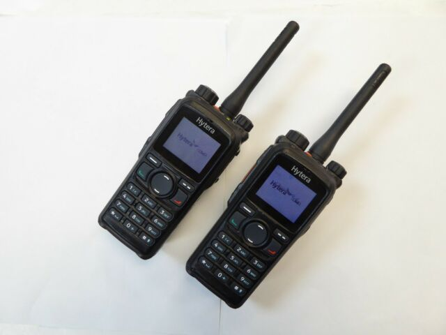 2-Hytera pd782 UHF digital DMR Tragbare Radios 450 520 MHz arbeiten perfekt