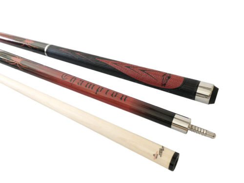Champion Red Spider Pool Cue Stick,Low Deflection Shaft,Ajust weight,CuetecGlove