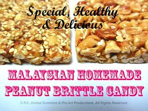 Details about MALAYSIAN PEANUT CANDY BRITTLE Malaysia Delicious Snack with  Sesame Seeds