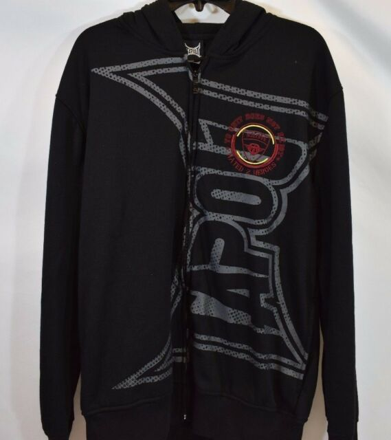 TAPOUT Mens Sweater Hoodie L XL 2XL Sweatshirt Logo Black Hooded Pullover NEW