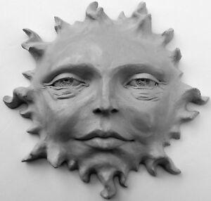 Image Is Loading Sun Face Sculpture 11 034 Celestial Wall Art