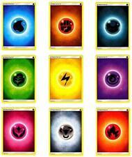 NM BRAND NEW! 50 BASIC ENERGY CARD LOT BULK CARDS POKEMON TCG ALL 9 TYPES