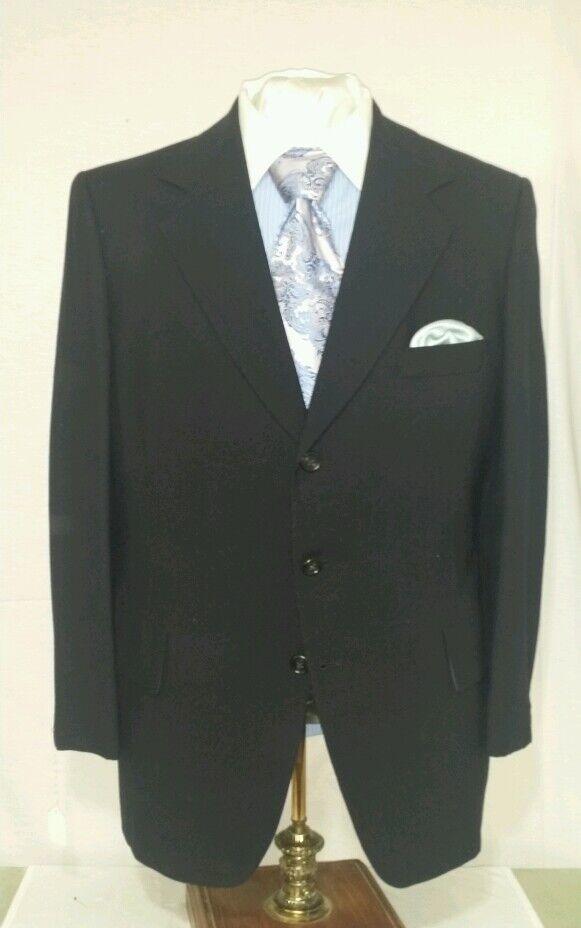 Herren Blau Hart Schaffner & Marx 3 button single vent suit sz 42R