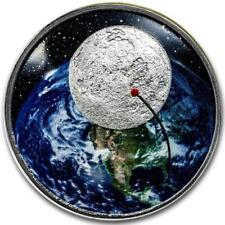 USA 1 Dollar 2019 50 Jahre Mondlandung Gewölbte Prägung 1 Oz Silber PP