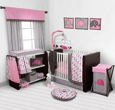 Item 1 Baby Bedding Bedroom Set Nursery Elephants Pink 10 Pc Crib Infant Room Kids
