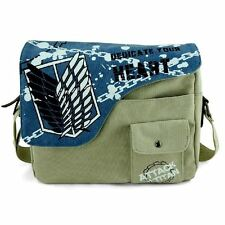 Attack on Titan shingeki no kyojin Cosplay Messenger Shoulder School Bag Blue