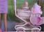 thumbnail 5 - Barbie Walking & New Baby Sister krissy Doll Stroller -1999 Mattel NRFB New