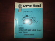 Ih International 3200amp330 Series B Loader Tractor Owner Manual Original Gss 1456