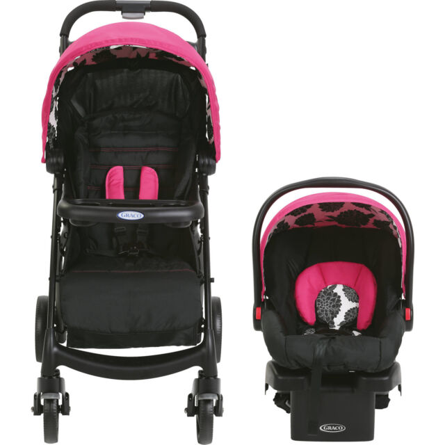 Stroller Infant Car Seat Baby Carrier Safety Outdoor Travel System New Born Pink