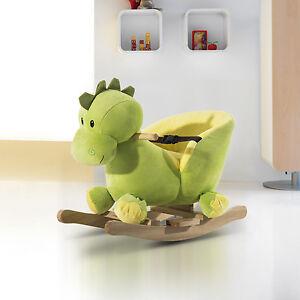 """23.6"""" Kids Rocking Horse Dinosaur Children Baby Toy Seat w/ Belt 32 Songs"""