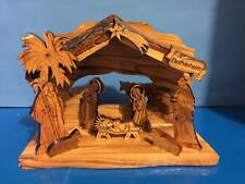 Nativity Made Out Of Olive Wood From Bethlehem
