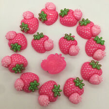 8pcs Rose Strawberry embellishment Resin Flatback ScrapbookIng for phone/craft