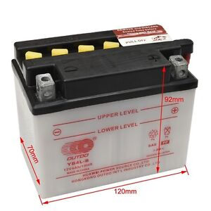 12v brand new battery yb4l b for motorcycle ride on mower. Black Bedroom Furniture Sets. Home Design Ideas
