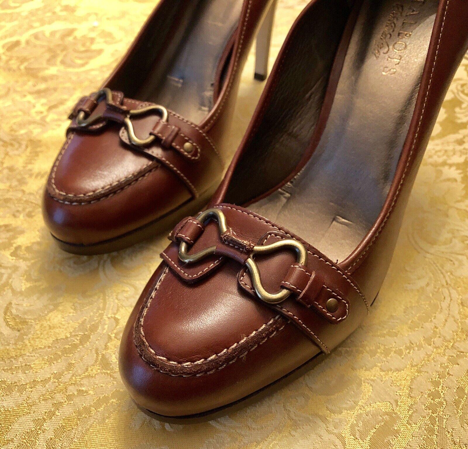 TALBOTS WOMEN'S SHOES Size 10B ADELE-M Burnished Cognac Orig. Brand-New!