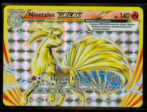 RARE HOLO Pokemon NINETALES BREAK 16//108 MINT XY Evolutions