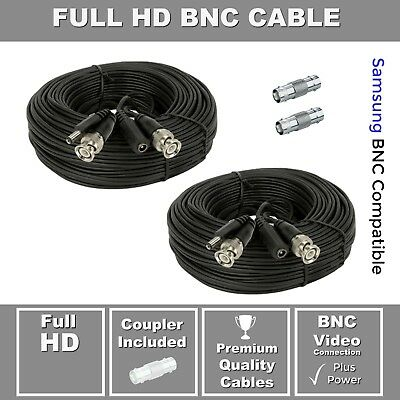 Lot of 4 200ft Samsung Wisenet Compatible HD Cable f// 5MP SDH-C85105 SDH-C84080