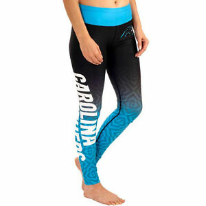 Carolina Panthers NFL Women s Gradient Print Leggings By Klew Tights ... 81ac04607c3a