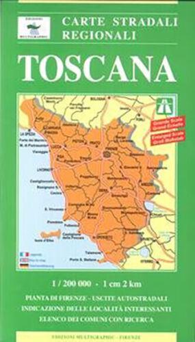 Cartina Geografica Della Toscana.Toscana Cartina Stradale Regionale Scala 1 200 000 Carta Mappa Ebay