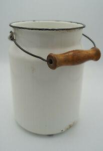 Vintage-Email-Milk-Jug-Bucket-Decor-Enamel-Retro-White-Utensilo-50er-11