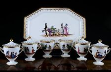 Hand-Painted Pots De Creme Service, Charles Ahrenfedlt, Paris