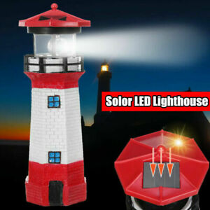 SOLAR-POWERED-LIGHTHOUSE-ROTATING-LED-GARDEN-LIGHT-HOUSE-DECORATION-ORNAMENT