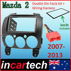 mazda 2 07 13 facia kit fascia panel dash trim double din wiring image is loading mazda 2 07 13 facia kit fascia panel