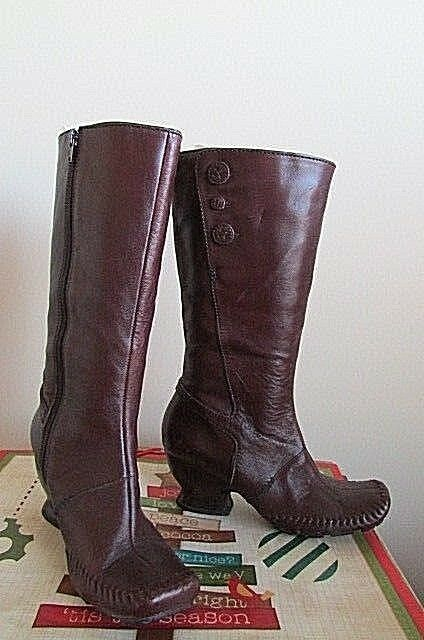 NEW Clarks Indigo brown Leather Knee high Boots 82853 size 9m