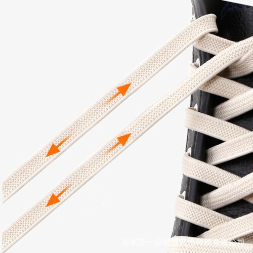 1Pair Tieless Laces Flat Lazy Shoelaces Elastic No Tie Unisex Stretch Running US
