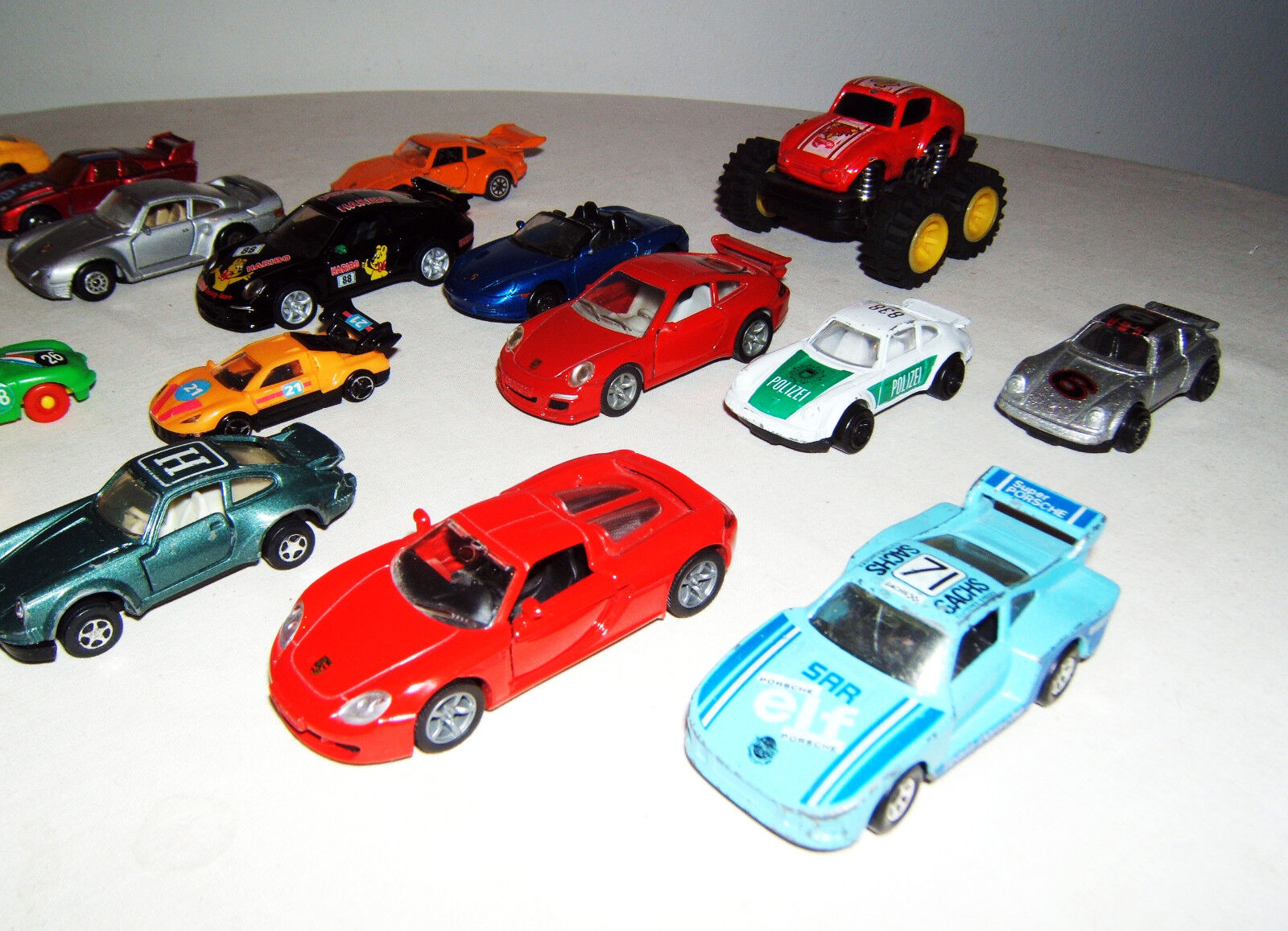 Liasse, Porsche Collection, 20 unités, Hot Wheels, MATCHBOX, MPG, SIKU, Welly, etc