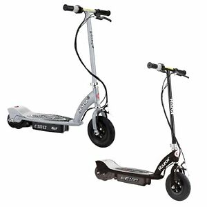 Razor-E100-Motorized-Rechargeable-Kids-Electric-Toy-Scooters-1-Black-amp-1-Silver